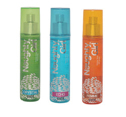 Naughty Girl CRYSTAL, ECHO & FEMME Perfume Spray for Women- (Set of 3) (60ml each)