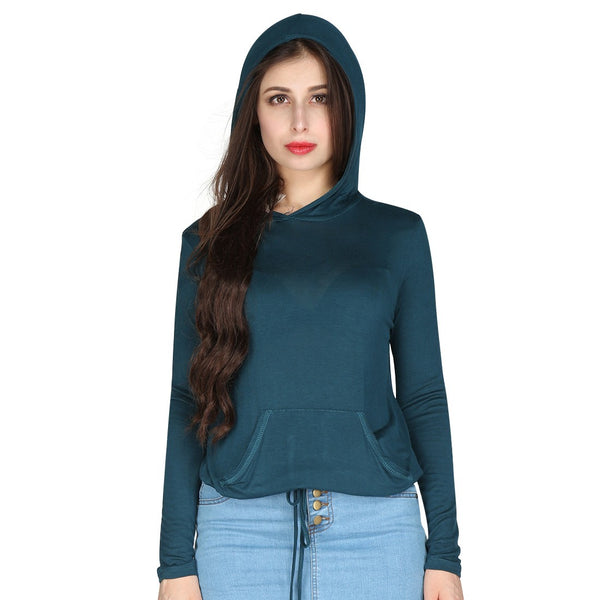 London Rag Womens Full Sleeves Teal Color Top-CL7237