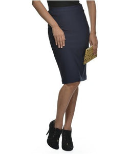 Glam A Gal Navy Kneelength Skirts