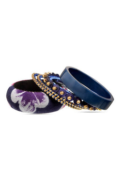 BAUBLE BURST Midnight Mania Bangles Stack