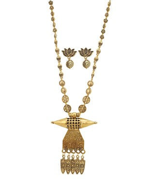 Aradhya Copper, Metal Jewel Set (Gold)