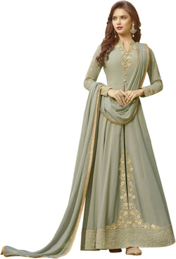 YOYO Fashion Light Green Faux Georgette Anarkali Salwar Suit & YO-F1306