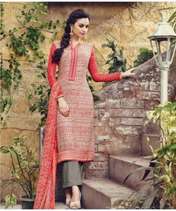 Aadya Multicolor Unstitched Suit With Dupatta And Inner