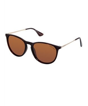 David Blake Brown Round Polarised Sunglass
