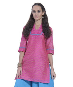 DESI THREADS Fuschia Kurti