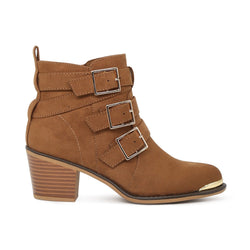 Lononn Rag Women's Tan Ankle Boots-SH1604TAN