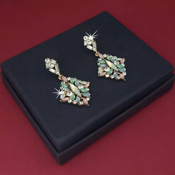Tanishka Fashion Gold Plated Crystal Stone Dangler Earrings $ 1314613D
