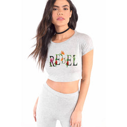 Partum Corde Premium Women's Modern Fit Round Neck T shirt REBEL CROP TOP $ REBEL CROP TOP2191