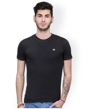 Dazzgear Men's Black Round Neck MTO-68 T-Shirt