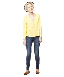 American Swan Yellow F/S Top