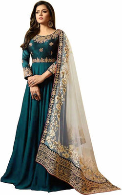 YOYO Fashion Blue Faux Georgette Anarkali Salwar Suit & YO-F1251-Firoji