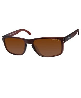David Blake Brown Rectangular Polarized, UV Protected Sunglass