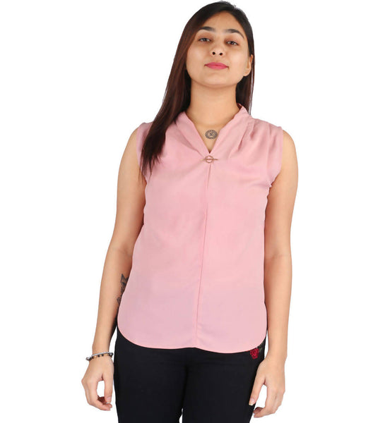 Fashion Tiara Women's Pink Polyester Tops $ FTT158
