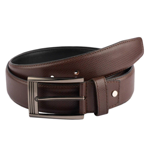 Baluchi's Brown Textured Semi Formal Men's Belt $ BLC_PMBR_2