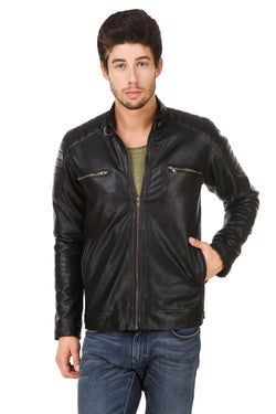 Smerize Men's Wolverine Faux Leather Jacket $ 18SM