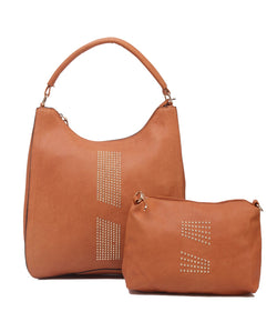 Fiona Trends Tan PU Shoulder Bag,6003_TAN