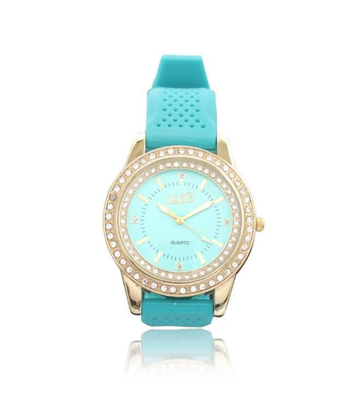 FIDATO SkyBlue/Gold/Sky Blue Stainless Steel/Rubber WOMEN CASUALWATCH $ 100000903490