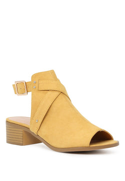 London Rag Women's yellow Color Peep Toe Ankle Cut Strap Sandals $ SH1575