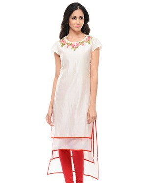 Chanderi Silk Layered Kurta