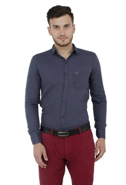 Baluchi Solid Regular Full Sleeve Linnen Grey Formal Shirt $ BLC_MNSHIRT_04