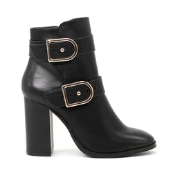 London Rag Women's Black High Heel Boots-SH1428Black