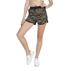 Second Half Camo n Black Shorts-SH0018