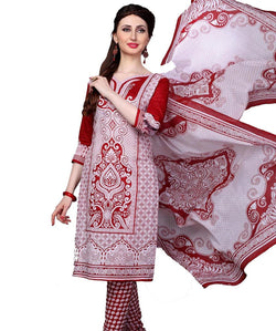 Minu Suits Red Cotton Salwar Suits Sets Dress Material Freesize,Redbeauty16_16007