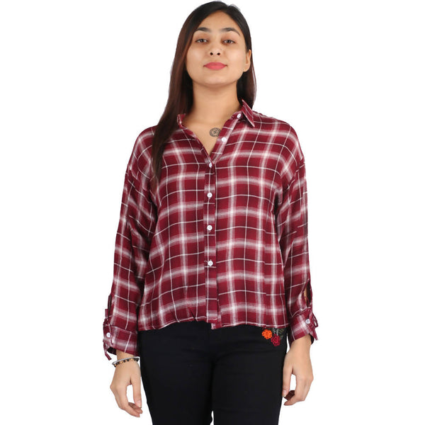 Fahiontiara Collection of cotton rayon Casual Women Western Wear Shirts $ FTS19