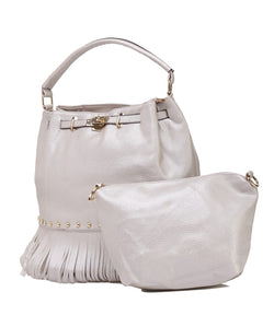 Fiona Trends Silver PU Shoulder Bag,6009_SILVER
