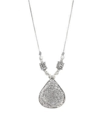 aradhya Silver Plated Metal Necklace