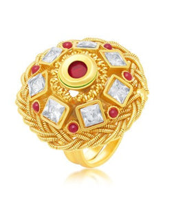 Sukkhi Traditionally Gold Plated Ring For Women