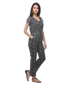 Free Spirit Black And Grey Jumpsuit