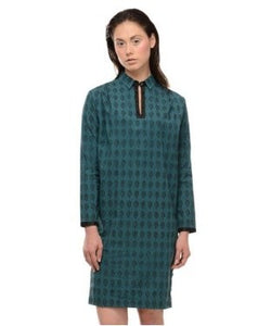 Ilk Teal And Black Tunic