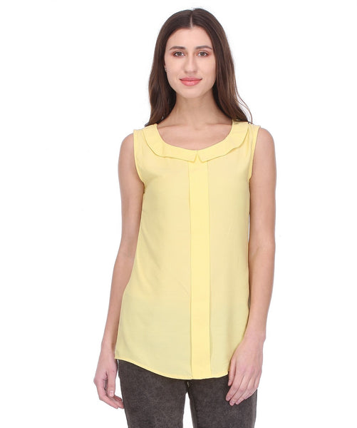 Glam a gal yellow s/l top