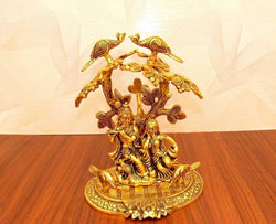 Gold Plated Radha Krishna God Idol Murti Exclusive Gift for Birthday Gift, Corporate Gift and Wedding Gifts $ IGSPBR1092