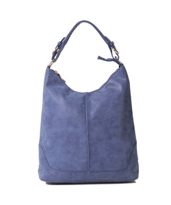 Fiona Trends Blue PU Shoulder Bag,6605_BLUE