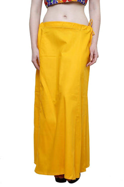MY TRUST Cotton Yellow Color Saree Petticoats $ PT-23