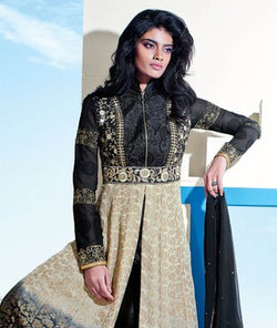 Brocade and Georgette Suit with Dupatta