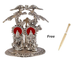 Silver Plated Laxmi Ganesh Tree God Idol with Red Velvet Box Packing (22 cm, Silver) Gold Plated Ball Pen Amount - 250 Rs Free Gift Inside This Box Limited Stock Available $ IGLGTR101