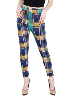 Baluchi Check Plaid Print Jeggings $ BLC_JEG_21