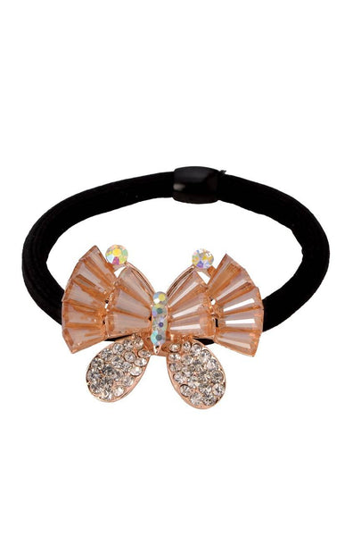 Bedazzled Butterfly Rubber Band - JIFDRBB6053