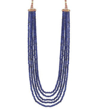 aradhya Onyx, Beads Yellow Gold Plated Alloy Necklace