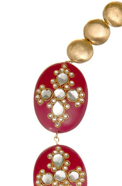 Shahi Laal Necklace - JMRJNEC9402