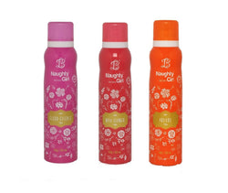 Naughty Girl FLEUR-ESSENCE WILD FLOWER PASSION Deodorant for Women- (Set of 3) (150ml each)