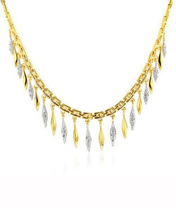 1/4 Carat tw Diamond Cleopatra Necklace in Gold Over Bronze