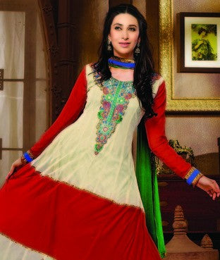 Net and Georgette Suit with Dupatta