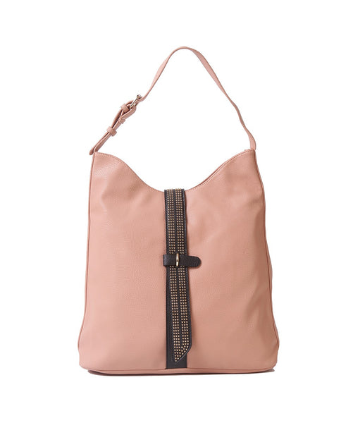 Fiona Trends Peach PU Shoulder Bag,6604_PEACH