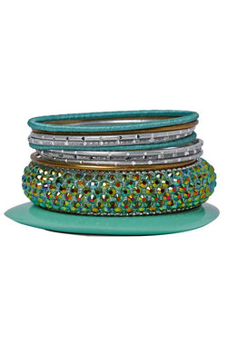 Bauble Burst Sea Shine Bangles Stack