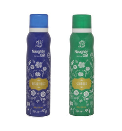 Naughty Girl ULTRAVOILENT GLAMOUR Deodorant for Women- (Set of 2) (150ml each)