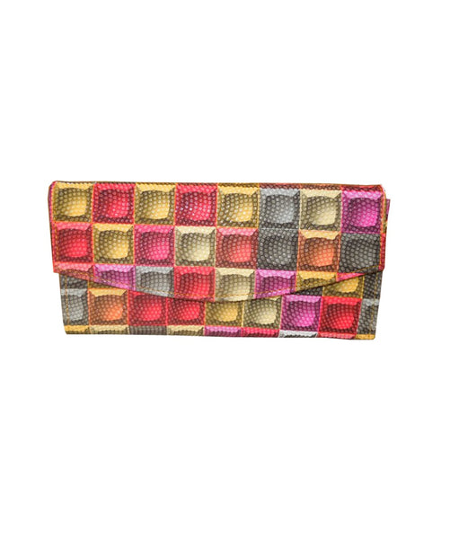 SA 012ALW Spice Art Checks Multi Leatherite Ladies Wallets